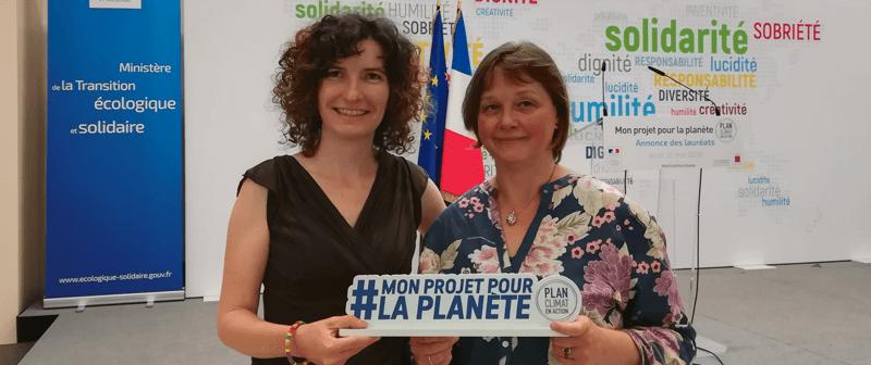 Mon projet pour la planète remise du prix au Ministère de la transition écologique et solidaire